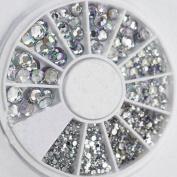 Adecco LLC Great Mixed DIY Size Glitter Rhinestones Charm 3D Nail art Decor Accessories