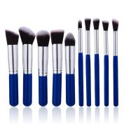 Makeup Brush Set - 10 Pcs Professional Cosmetic Brushes Set