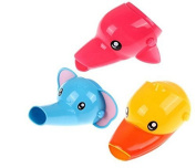 CoscosX 1Pcs Cartoon Animal Faucet Extender Sink Handle Extender for Babies, Toddlers, Kids and Children,Duck