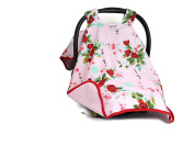 ROCKINGHAM ROAD,CAR SEAT COVER CANOPY,PREMIUM,NEWBORN,PINK ASIAN FLORAL(BEST SELLER)MADE IN THE USA