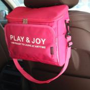 Car Back Seat Organiser Hanging Bag with Cooler Portable Multi-Pocket Truck SUV Outdoor Travel Insulated Bottle Storage Drinks Holder Lunchbox Bin Stroller Bag