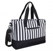 NinkyNonk Baby Nappy Tote Bag Portable Women Handbags Nappy Bags for Baby Care,Black Stripe