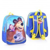 [RusToyShop] average Preschool Backpack Masha and the Bear, Baby Bag, Small Backpack Kids, Bag Girl Cute Backpack Kindergarten for Baby, Grey, Little Girl, Pink