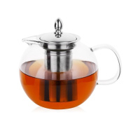 ZJY 28oz/800ml Blooming and Loose Leaf Tea Pot, Microwavable and Stovetop Safe Tea Pot and Tea Strainer