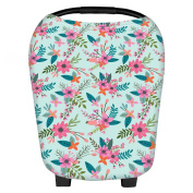 cici store Multi-Use Stretchy Newborn Infant Nursing Cover Floral Baby Car Seat Canopy