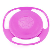 Pop Your Dream Universal Baby Tableware 360 Dgree Children Eating Trainning Rotate Spill-proof BowlBowls With Lid Green And Orange Rose Red