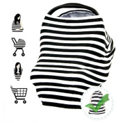 Nursing Breastfeeding Breast Feeding Cover-Anti-reveal Breast-feeding Cover with Wiping Towel & Pocket,Baby Car Seat Canopy, Shopping Cart, Stroller, Carseat Covers for Girls and Boys