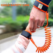 Premium quality Children Wristband Link Leash By Eco-Baby – 2.5m/2.5Mt PU Cord & Stainless Steel – 360o Rotating – Eco & Skin-Friendly – Double Anti-Pricking Tape-Sturdy