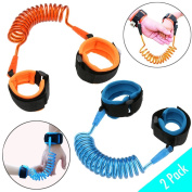 Anti Lost Wrist Link (2 Pack) - Safety Wrist Link Cuffs for Toddlers   Anti-Lost Hook and loop Strap with Flexible Band   Adjustable Comfort   Child Safe Indoor and Outdoor Travel Protection