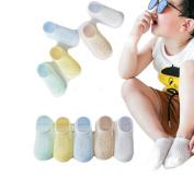 Ewandastore 5 Pairs Ankle Socks Breathable Mesh Thin Cotton Short Socks Pointelle Socks for Toddler Unisex Baby Kids Girls Boys,3-5 Years,Large Rhombus