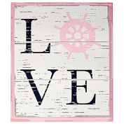 "Nautica Kids ""Love"" Wall Décor Featuring a Ship's Wheel - Naitucal - Girls"