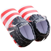 Baby Girls Boys Shoes, TRENDINAO Baby Toddlers Girls Boys Soft Sole Leater Soft Bottom Shoes American Flag Flats Shoes (US:2.5