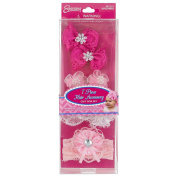 INFANT7PC SATIN HAIR ACCESSORY SET IN PVC BOX