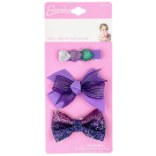 INFANT 3PC GLITTER SALON CLIP
