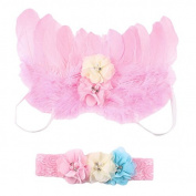 New Baby Gilrs/Boys Photo Photograph Props Outfits with Flower Headband Set Infant Fairy Feather Angel Wings Design Costume