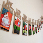 Creazy Kids Birthday Gift Decorations 1-12 Month Photo Banner Monthly Photo Wall