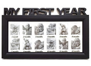 First Year Picture Frame Display Baby Photo Collage