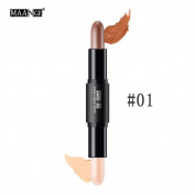 MAANGE Double-head Face Lips Concealer Highlight Natrual Cream Contour Pen Stick