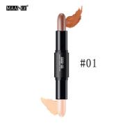MAANGE Double-head Face Lips Concealer Highlight Natrual Cream Contour Pen Stick