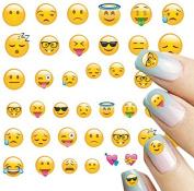 ALLYDREW 250+ Emoji Water Transfer Nail Decals 3D Nail Art Nail Decals