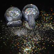 Modelones Chameleon Nail Sequins Glitter Holographic Nail Powder Chrome Nail Pigment