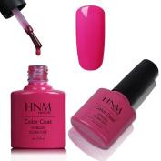 Gel Nail Polish, HNM UV LED Nail Polish Colour Lacquer Varnish Soak Off Nail Art Manicure 8ML Pink Bikini