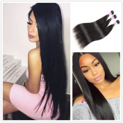 JiSheng Human Hair 3 Bundles Mink Brazilian Hair Weaving 100 Unprocessed Brazilian Straight Hair Cheap Hair Bundles 8a Grade Virgin Unprocessed Natural Colour 50g £¨16 16 18£ ¡