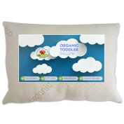 Premium Organic Toddler Pillow- Extra Thick Durable Organic Cotton, Made in the USA (33cm x 46cm ) by Baby Mushroom