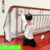Eyotool 300cm x 70cm Balcony Stairs Safety Decoration Protection Net Protect Your Baby, With Installation Rope