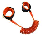 GAMT Child Safety Harness Anti Lost Wristband Strap Walking Hand Belt for Kids Orange 2.5m