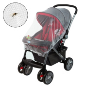 BAY Direct Baby Mosquito Net for Strollers, Carriers, Car Seats, Cradles Portable and Durable Soft Baby Insect Netting 100% Satisfaction Guarantee