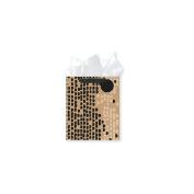 Black With Glitter Kraft Design Large Gift Bag