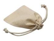 Md trade Pack of 30pcs 7cm x 10cm Double Drawstring Cotton Muslin Bags Linen bags Jewellery Pouch Reusable Bags Tea Bags Sachet bags Souvenir Gift Bag