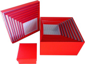 Cypress Lane Square Gift Boxes, a Nested Set of 9