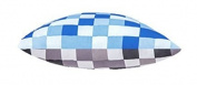 Blue & Grey Pixels Scatter Cushion Ready Filled with Hollowfibre Pad. Size
