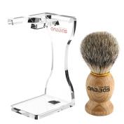 Anbbas Barber Style Shaving Brush Badger Hair with Razor Stand for Mens Wet Shaving