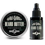 Beard Oil & Balm Conditioner Cool Mint - Mens Gift Set Developed For Beard and Moustache Growth Softens and Prevents Itchy Dry Skin. Made in the USA with Locally Sourced Essential Oils!