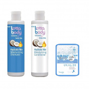 Lottabody Coconut Shea Oils Hydrating me Shampoo Conditioner Set w/ Collagen Mask