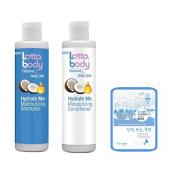 Lottabody Coconut Shea Oils Hydrating me Shampoo Conditioner Set w/ Collagen Mask