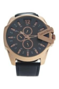 Louis Villiers Lvag8912-16 Black Leather Strap Watch Watch For Men 1 Pc