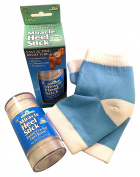Miracle of Aloe, Miracle Heel Stick with UltraAloe, 70ml stick PLUS Silicone Moisturising Gel Heel Socks