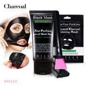 SHILLS Black Mask, Peel Off Mask, Blackhead Remover Mask, Charcoal Mask, Blackhead Peel Off Mask x1, black mask x1 and Brush Kit