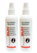 Hollywood Medium Sunless Tanning Micro Mist Spray 240ml 2-Pack with Non-Aerosol Spray Pump