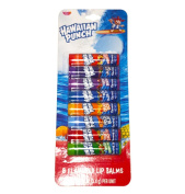 Hawaiiian Punch Lip Balm Variety Pack! 8 Flavoured Lip Balms Per Pack! Delicious Flavours!