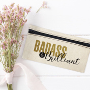 Badass & Brilliant Cosmetic Makeup Travel Bag Toiletry Kit 8 x 4.5