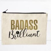 Badass & Brilliant Cosmetic Makeup Travel Bag Toiletry Kit 10 x 7
