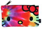Loungefly Sanrio Hello Kitty Rainbow Tye Dye Nylon Cosmetic Pencil Bag Pouch