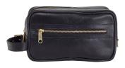 Clava Santa Fe Leather Toiletry Case, Black