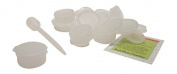 Natural 30ml Hinge Top Plastic Containers for Lip Balms, Samples, Pills - 24 pk with Pipette