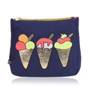 Emma Lomax London Navy Blue Ice Cream Toiletry Bag